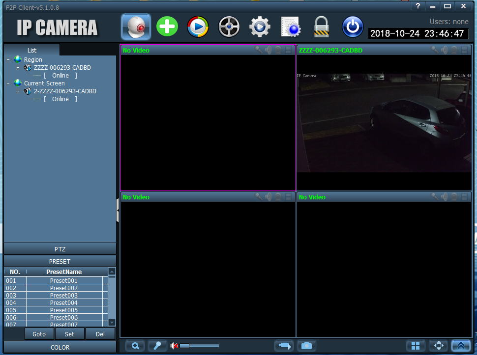 IPカメラ(リアルタイム動画配信)